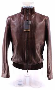 men s jacket dsquared leather brown exclusive luxury made italy limited new
