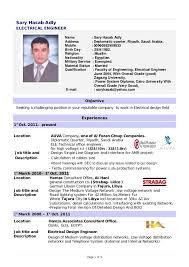 Cv Resume Of Engineer Resume Electrical Engineer Jobsxs Waa Mood