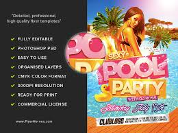 pool party flyer template blank. Interesting Template Sexy Pool Party Flyer Template To Blank L
