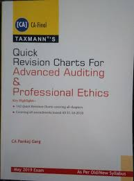 Pankaj Garg Audit Charts Nov 2018 Taxmanns Advanced Auditing Professional Ethics For Ca Final May 2019 Exam Old New Syllabus By Ca Pankaj Garg Taxmann Publications Pvt Ltd