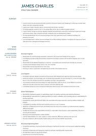 Engineering Skills Resume Structural Engineer Resume Samples And Templates Visualcv