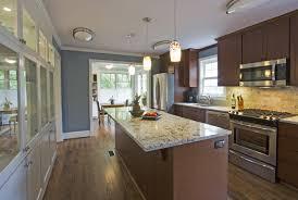 Open Galley Kitchen Interesting Open Galley Kitchen Bibliafull Inspiration  Design