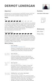 Esl Teacher Resume Samples Visualcv Resume Samples Database For
