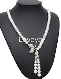 details about genuine white 9 10mm freshwater pearl pendant choker necklace 20