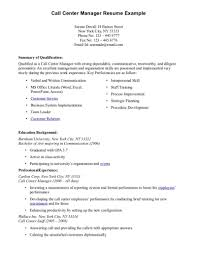 Resume Samples For Call Center Job Resume Format For Call Center Job Resume For Study 1