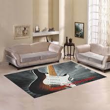 interestprint sweet home modern collection custom guitar area rug 5 3 x4 indoor soft carpet