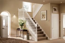 modern hallway ideas for landing at top of stairs decorating hallways tips  front entrance interior paint ...