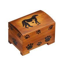 cat dog wooden box with paw prints medium 7882