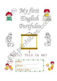 Cover Page For Portfolio Portfolio Beginners Cover Page Esl Worksheet By Vickyvar