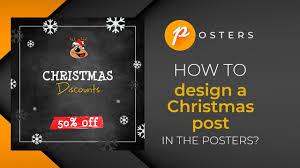 Poster Design Instagram How To Design Christmas Post In The Posters App Christmas Instagram Idea Tutorial