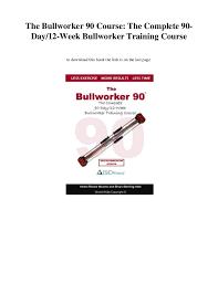 Bullworker Chart The Bullworker 90 Course The Complete 90 Day 12 Week