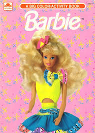 90s coloring book plus barbie coloring book colour me good 90s colouring book 133