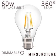 type of lighting. Dimmable B22 6W OMNI-LED Bulb, Clear Globe Type Of Lighting