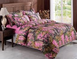 5pcs pink woods camouflage camo hunter bed in a bag comforter set w sheets twin