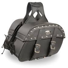 black leather motorcycle saddle bags 10 5x15x6x18 0