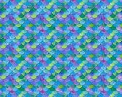 Mermaid Pattern Cool Mermaid Pattern Etsy