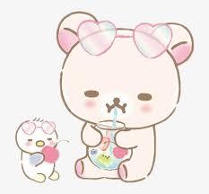 Rilakkuma Korilakkuma Bear Sweet Heart Drink Pink Rilakkuma