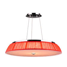 worldwide lighting alice 21 light chrome and clear crystal led pendant with red string shade