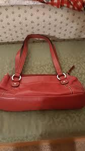 red leather giani bernini handbag