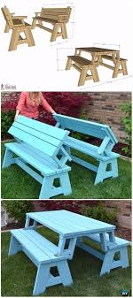 diy convertible picnic table and bench instructions diy outdoor table ideas projects free plans