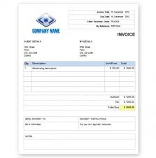 Invoice Example Word Free Invoice Template With Quantity And Description