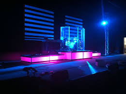 Slats 2x4s Wax Paper And Creative Lighting Church Stage