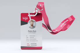 company id card templates pink company id card template makiplace
