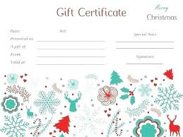 Christmas Gift Card Templates Free Delicate Gift Certificate
