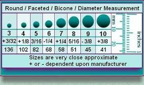 Bicone Bead Size Chart Bicone Bead Size Chart Google Search A Handy Chart To Tell