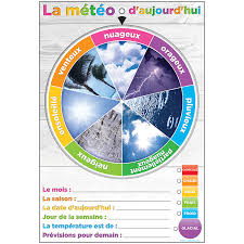 Weather Tree Chart Wheel Poly Chart Weather French Dry Erase Surface The