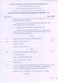 total quality management elective ii end sem sardar  page 1 total quality management end sem svnit surat
