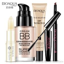bioaqua beauty cosmetics makeup collection kit set lip balm bb cream eyebrow pencil maa cream isolation makeup base makeup brush sets makeup palette