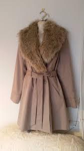 fur collar stone coat