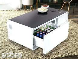 coffee table with led lights white high gloss