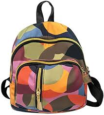 <b>Women's</b> Backpack <b>Handbags</b> Weant <b>Nylon</b> Multicoloured School ...