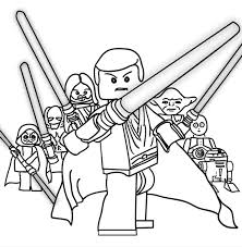 Small Picture Lego Star Wars Printable Coloring Page Over 100 designs
