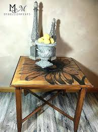 old coffee tables painting old coffee table new hand stained sunflower image on end table stain shading stain outdoor coffee tables