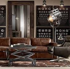 industrial living room furniture. Home Decor | Pinterest Leather Chesterfield, Chesterfield Sofa And Men Cave Industrial Living Room Furniture I
