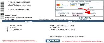 One can find such numbers at paypal as part. Online Bill Pay Physicians Immediate Care