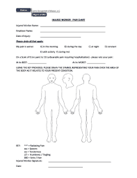 Body Injury Chart Fillable Online Injured Worker Pain Chart Injured Worker