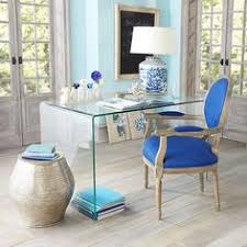 clear office desk. Small Space Solutions: Sources For Clear Glass \u0026 Acrylic Desks Office Desk