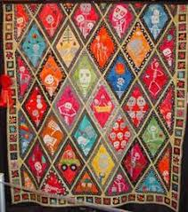 Stock Photography: Mexican Quilt. Image: 6962672 | Quilts ... & day of the dead quilts | Quilting Information Article Adamdwight.com
