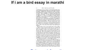 if i am a bird essay in marathi google docs