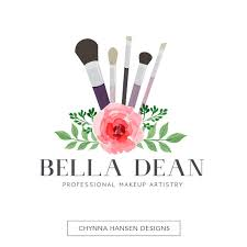premade logo design makeup artist logo beauty logo fl logo pink logo watercolor logo salon logo