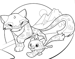 Animal Jam Coloring Pages Fox At Getcoloringscom Free Printable