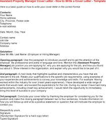 Property Manager Cover Letter Nice Property Manager Assistant Cover