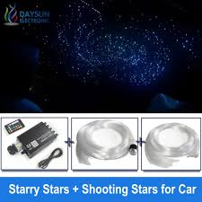 Led Star Ceiling Lights Us 75 98 8 Off Music Control Starry Star Shooting Stars Ceiling Lamps Led Optic Fiber Light With Fibers Rgbw Rf Remote Mobile App Voice Control In