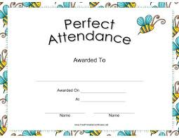 free perfect attendance certificate perfect attendance certificate free download barca