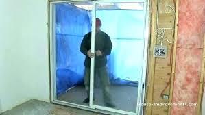 remove sliding screen door pocket door adjustment