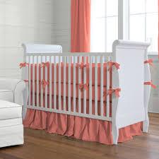 image of pink modern crib bedding